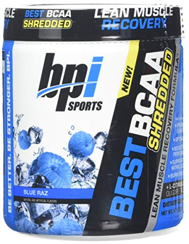 Bpi Sports Best BCAA Shredded Supplement, Blue Raz