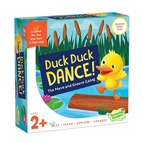 Peaceable Kingdom Games for Parents & Their 2-Year-olds: Duck Duck Dance - Toddler & Preschool Board Game of Moving Your Body & Following Directions