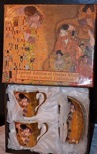 Atelier Harmony Gustav Klimt Espressotassen Der Kuss 6teilig Porzellan (Beige/Gold)