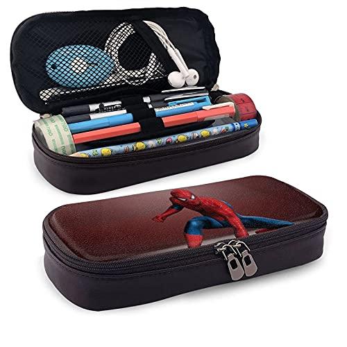 Estuche de piel de Spiderman para lápices, papelería, oficina, portátil, caja de almacenamiento de cosméticos