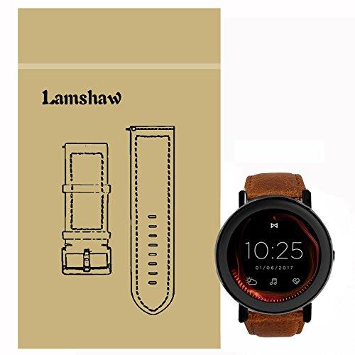 LvBu Armband Kompatibel mit Misfit Vapor/Misfit Vapor 2, Quick Release Leder Classic Ersatz Uhrenarmband für Misfit Vapor/Misfit Vapor 2 Smartwatch (Braun)
