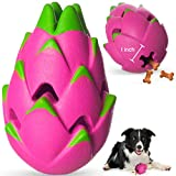Bite'n'Play Premium Quality Dragon Fruit Dog Chew Toy , Sleek Design Interactive Dog Toys Large Breed , Dog Puzzle Toys , Dog Toys for Aggressive Chewers Large Breed Natural Rubber Dog Balls Pitaya