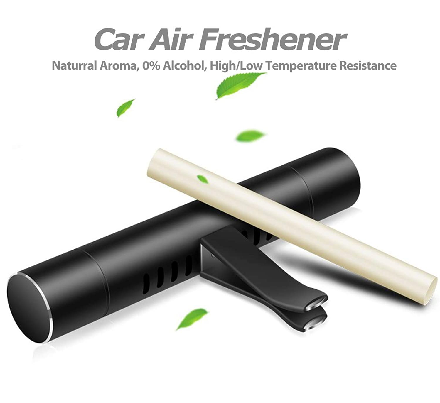 Car Air Freshener, VENENO Car Solid Air Purifier Air Diffuse Freshener Car Perfume Vehicle Aroma with 3 Scents Bars for Vehicle Bedroom Office Travel Improve Air Quality