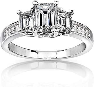 Best 1 3 carat emerald cut diamond Reviews