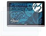 Bruni Schutzfolie kompatibel mit Acer Iconia One 10 B3-A50 Folie, glasklare Bildschirmschutzfolie (2X)