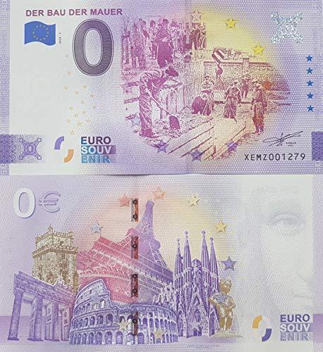 0-Euro-Schein Der BAU der Mauer - Deutschland Souvenir Null Euro € Sammler