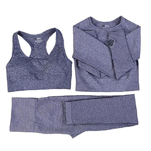 Mujeres Sin Fisuras Conjunto De Yoga Fitness Se Divierte Los Juegos Gimnasio Ropa De Manga Larga Camisas De Los Cultivos De Cintura Alta Operando Polainas De Los Pantalones De Entrenamiento De