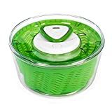 Zyliss Easy Spin Salad Spinner, 4-6 Servings, Green