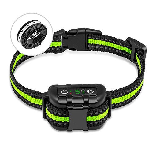PetYeah Upgraded Q9 Dog Bark Collar,Smart Barking Identification Device,Dual Anti-Barking Modes (No Shock/Shock),Rechargeable Waterproof No Bark Collar,Humane Anti Bark Collar Dogs