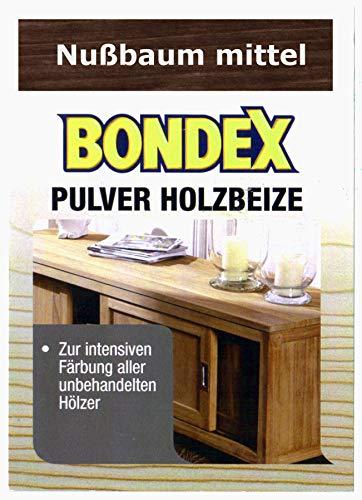 Bondex Holzbeize Pulverbeize Beutelbeize Beize auf Wasserbasis für Möbel 5er Pack - nußbaum mittel