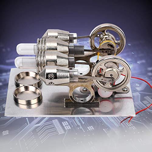 Jeanoko Mini Motor Stirling Fino excelente Mini Modelo de física Modelo Educativo Modelo de enseñanza Laboratorio