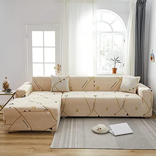 PPOS Fundas de sofá de Esquina para línea sofá Funda de sofá elástica en Forma de l Chaise Longue Fundas de sofá undefined 1-2-3-4 Funda de cojín de Asiento C10 3 Asientos 190-230cm-1pc