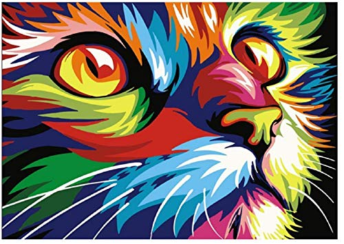 5D Diamond Painting Kits for Adults/Kis, Diamond Art kit for Home Wall Decor, DIY Cat Full Drill Diamond Embroidery Crystal Picture Art Craft