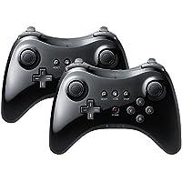 QUMOX 2 x Controlador de mano Wireless Gamepad Joypad Remoto Mando de juego para Nintendo Wii U Pro