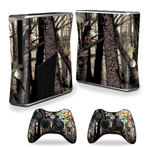 MightySkins Skin for X-Box 360 Xbox 360 S Console - Tree Camo | Protective, Durable, and Unique Vinyl Decal wrap Cover | Easy to Apply, Remove, and Change Styles | Made in The USA