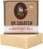 Dr. Squatch Beer Soap Bar – Grapefruit IPA Men's Bar Soap with Beer and Distilled Hops – Soap for Men with Natural Citrus Scent – Handmade in USA