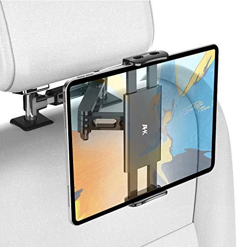 AHK Soporte Tablet Coche, Tablet para Coche Reposacabezas con Apoyo 360 Rotación para 4,4~11 Pulgadas iPad, iPhone, Galaxy Tab, Huawei Mediapad, Nintendo Switch et d