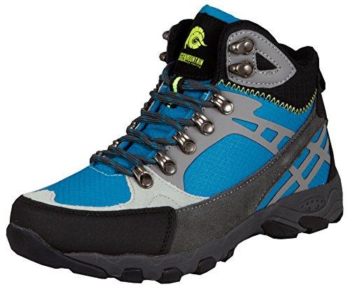 GUGGEN Mountain Chaussures de Randonnee Chaussures Montantes Hiking Boots M011 Bottes et Boots Femmes, Couleur Bleu, EU 39