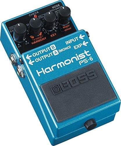 Boss PS-6 Harmonist Pedal, Negro, Azul