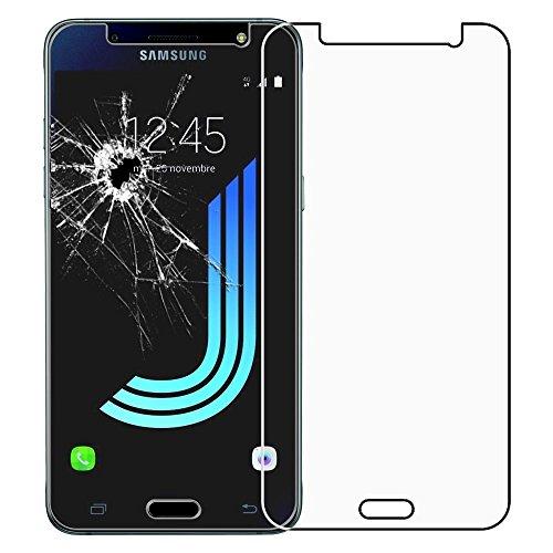 HQ-CLOUD Film Vitre Verre Trempé de Protection d'écran pour Samsung Galaxy J5 (2016) J510FN/ J510F/ J510G/ J510Y/ J510M/ J5 Duos (2016) - Transparent