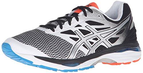 ASICS Men's Gel-Cumulus 18 Running Shoe, White/Silver/Black, 8.5 M US