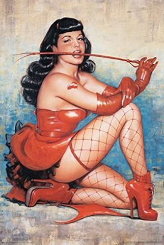 Olivia - Bettie Page Red Poster Drucken (60,96 x 91,44 cm)