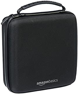 AmazonBasics Hard Shell Carry and Storage Case for Nintendo NES Classic - 8 x 8 x 3 Inches, Black