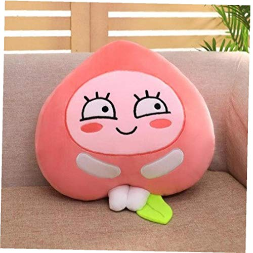 AMOYER 1pc Soft Pillow Plush Cushion Cute Fart Peach Plush Toy Bed Sofa Decoration Cushion Cartoon Stuffed Plush Toy Baby Sleeping Pillow Gift Pink