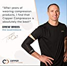 """Copper Compression - Recovery Back Brace - Lower Back Pain Relief - Highest Copper Content - Lumbar Waist Support Belt - Posture Corrector - Fits Waist 28"""" - 39"""" - Size Small/Medium - Men & Women #3"""