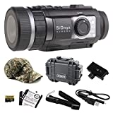 Wearable4U SiOnyx Aurora Black Full-Color Digital Night Vision Camera with Hard Case and Piccatinny Rail Mount and Hat Bundle