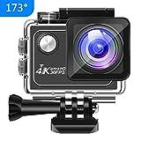 Panlelo V1 Action Cam 4K 173 ° Weitwinkel 16MP HD Unterwasser Kamera WiFi Sport Action Kamera 7...
