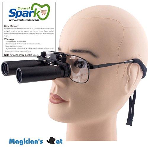 Spark 拡大鏡 8.0倍に拡大でき 専門 歯科用 精密420mm調整でき ヘッドルーペ メガネルーペ 折りたたみができ 製作 機械 作業 生物研究 開発 手術 歯科 医用 医者 眼科 外科にも使える 拡大鏡 虫眼鏡 双眼ルーペ 時計見ルーペ