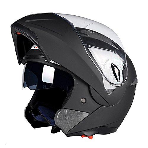 システムヘルメット フリップアップヘルメット バイクヘルメット フルフェイスヘルメット ダブルシールド PSC付き AN-9[商品01/XXL]