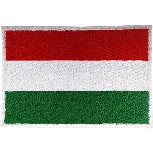 Aufnäher in Form einer Ungarn-Flagge zum Aufnähen/Aufbügeln