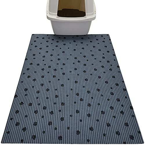Drymate Cat Litter Mat, Traps Litter & Mess from Box, Keeps Floors Clean, Soft on Kitty Paws - Absorbent/Waterproof/Urine-Proof - Machine Washable,...