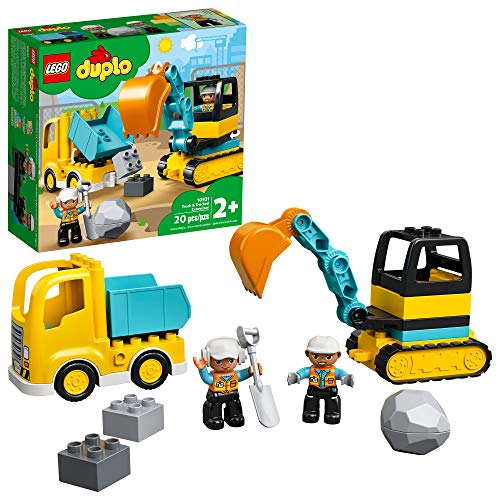 LEGO DUPLO Construction Truck & Tracked Excavator 10931 Building Site Toy for Kids Aged 2 and Up;...