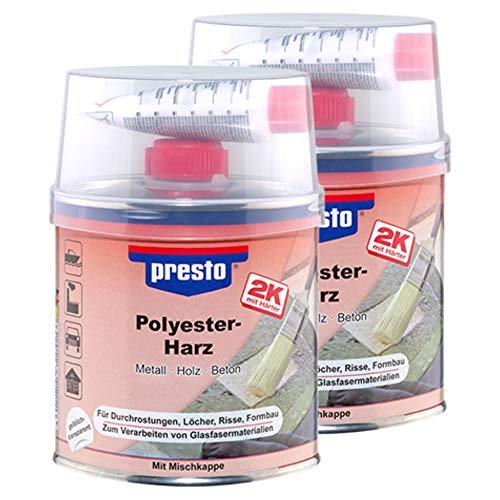 Presto 2X 600429 POLYESTERHARZ Metall Holz Beton ELASTISCH RAKTIV 250 g