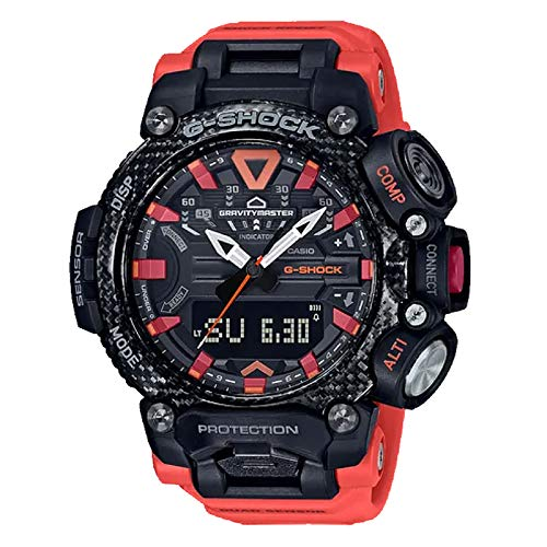 Casio G-Shock By Men's GRB200-1A9 Analog-Digital Watch Black/Red