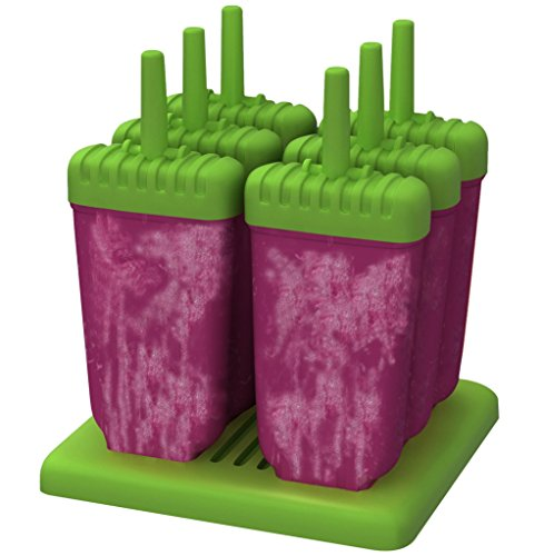 KiKa Monkey Sets von 6 Wiederholte Verwendung Ice Pop Formen Eisformen / Popsicle Formen (Grün)