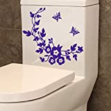 <span class='highlight'>HINK</span> Flower Toilet Seat Wall Sticker Bathroom Decoration Decal Decor Butterfly Purple