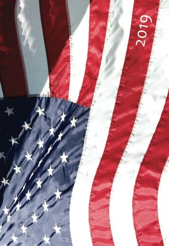 Mini Kalender 2019 - Amerikaflagge - ca. DIN A6