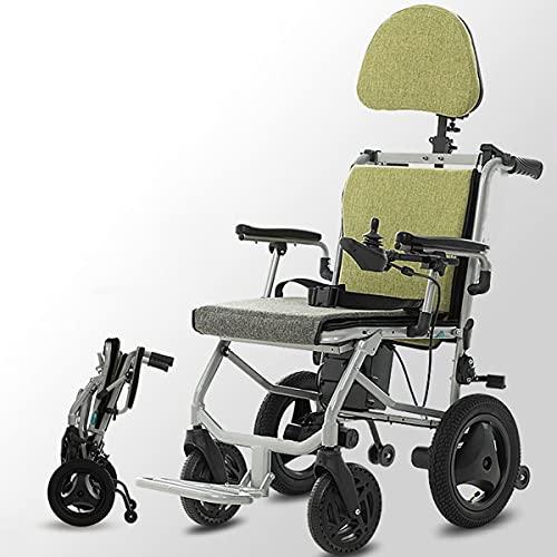 FANGX Silla de Ruedas eléctrica para discapacitados, Controlador Dual con baterías de...