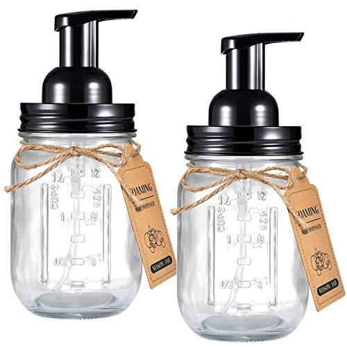 Mason Jar Foaming Soap Dispenser (2-Pack)