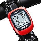 MEILAN M3 Mini Computadora de bicicleta de GPS , velocímetro GPS, computadora de ciclismo inalámbrica,odómetro,velocímetro, impermeable y retroiluminación,para bicicleta de carretera MTB(color rojo)