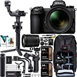 Nikon Z7II Mirrorless Full Frame Camera with 24-70mm F4 Lens Kit 1656 FX-Format 4K UHD Video Filmmaker's Kit with DJI RSC 2 Gimbal 3-Axis Handheld Stabilizer Bundle + Deco Photo Backpack + Software