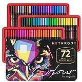 Hethrone 72色ペンセット 筆ペン 水彩筆 水性ペン マーカーペン 塗り絵 ペン オフィス用品 筆記具