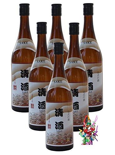 [ 6x 750ml ] Sake alkoholhaltiges Getränk aus Reis alc.14% vol. + ein kleines Glückspüppchen - Holzpüppchen