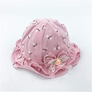 Baby Decoration Hat Toddler Printed Bowknot Sun Visor Sun Protection Hat Baby Packable Soft Hat for 0-1 Years Old(Pink) Cute Cap (Color : Pink, Size : 46cm)