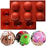 Large Silicone Molds 6 Holes Silicone Baking Mold Food Grade Silicone Baking Pan For Making Hot...