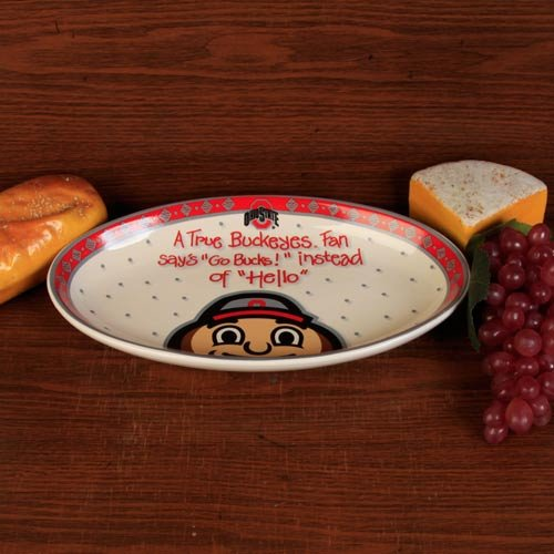 The Memory Company NCAA Ohio State University Official True Fan Platter, Multicolor, One Size